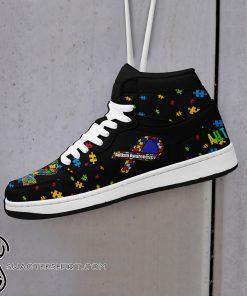 Nation autism awareness high top shoes