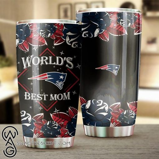 New england patriots world's best mom full over printed steel tumbler