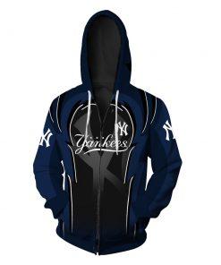 New york yankees full over printed zip hoodie