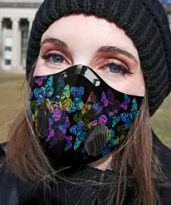 Night butterfly carbon pm 2,5 face mask 1