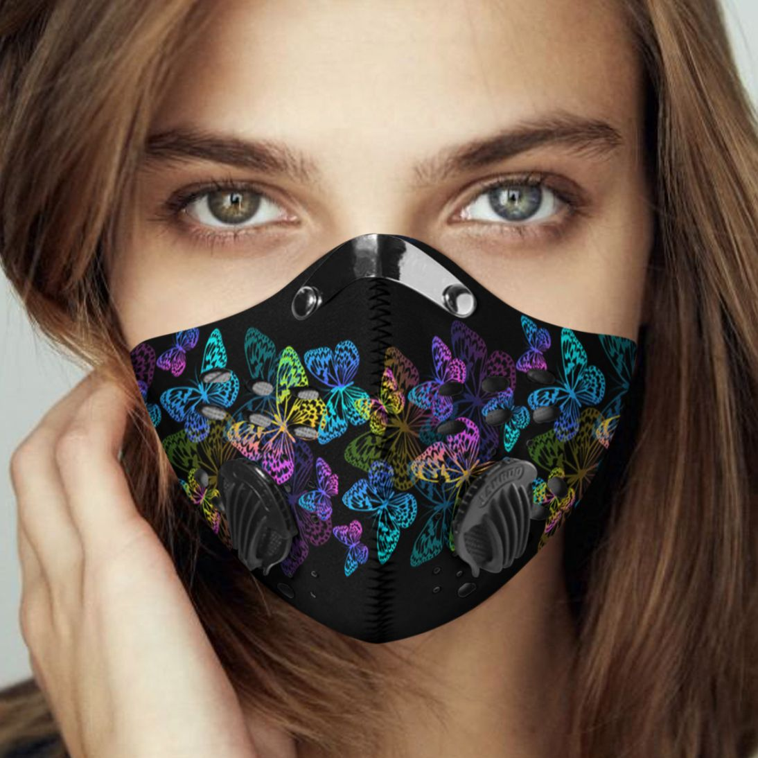 Night butterfly carbon pm 2,5 face mask 2