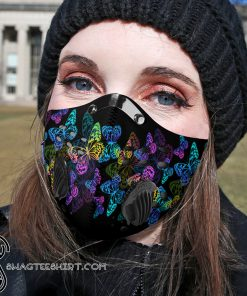 Night butterfly carbon pm 2,5 face mask