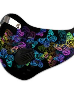 Night butterfly carbon pm 2,5 face mask 3