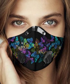 Night butterfly carbon pm 2,5 face mask 4