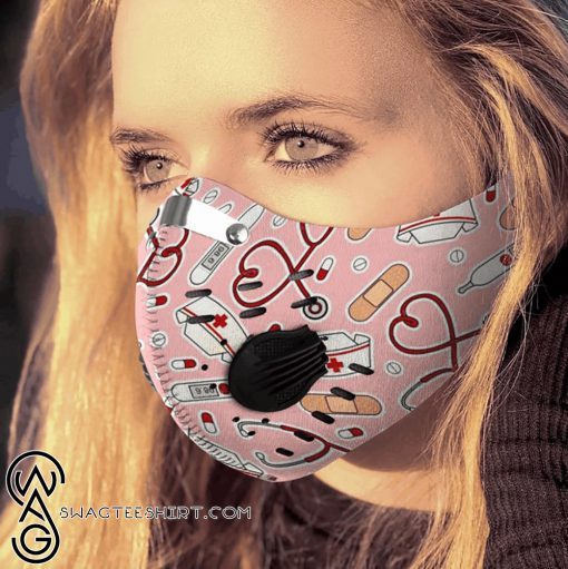 Nurse be strong carbon pm 2,5 face mask