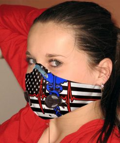 Nurse flag be strong carbon pm 2,5 anti pollution face mask 1