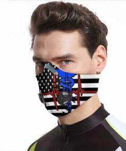 Nurse flag be strong carbon pm 2,5 anti pollution face mask 3