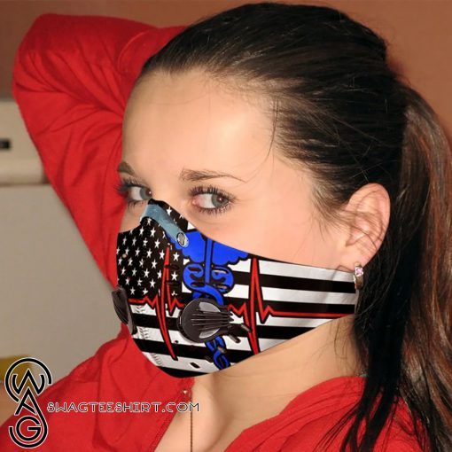 Nurse flag be strong carbon pm 2,5 anti pollution face mask