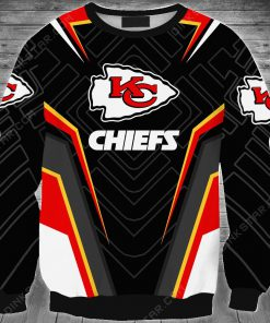 Personalized kansas city chiefs football full printing sweatshirt