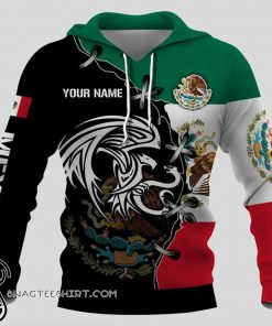 Personalized mexico golden eagle full printing shirt