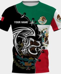 Personalized mexico golden eagle full printing tshirt