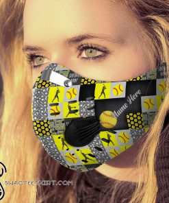 Personalized softball mom carbon pm 2,5 face mask