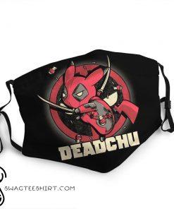 Pikachu cosplay deadpool anti-dust face mask