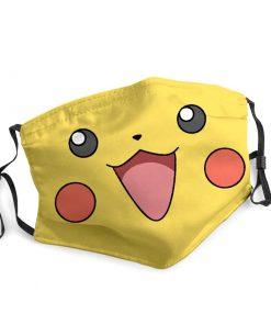 Pokemon pikachu face anti-dust face mask 1