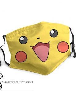 Pokemon pikachu face anti-dust face mask