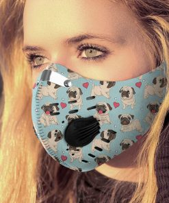 Pug dog filter activated carbon pm 2,5 face mask 1