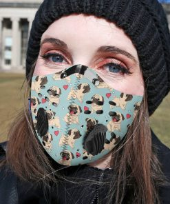 Pug dog filter activated carbon pm 2,5 face mask 4
