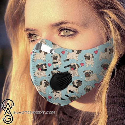 Pug dog filter activated carbon pm 2,5 face mask