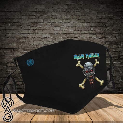 Rock band iron maiden full printing face mask