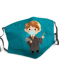 Ron weasley harry potter stay home face mask 4