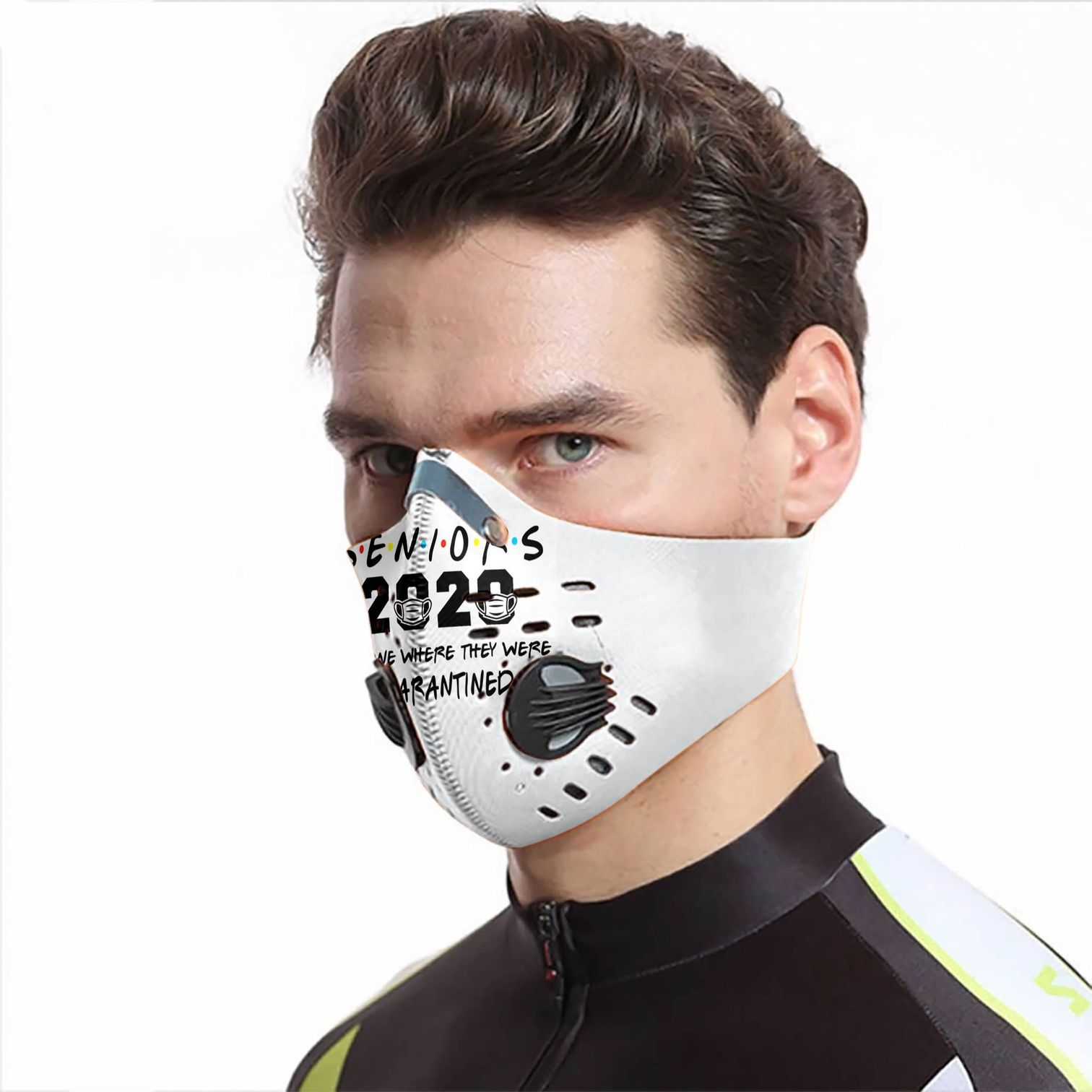 Senior 2020 the one where they were quarantined carbon pm 2,5 face mask 2