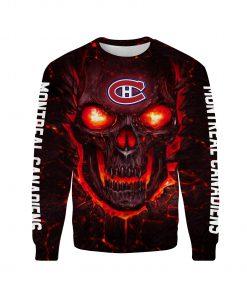 Skull montreal canadiens full over print sweatshirt