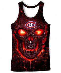 Skull montreal canadiens full over print tank top
