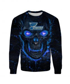 Skull st louis blues full over print sweatshirt
