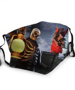 Skull trooper fortnite anti-dust cotton face mask 3