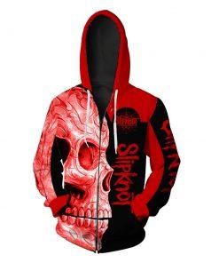 Slipknot sugar skull full over print zip hoodie
