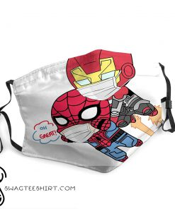Spider-man and iron man anti-dust face mask