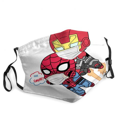 Spider-man and iron man anti-dust face mask 3