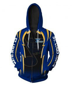 St louis blues full over print zip hoodie