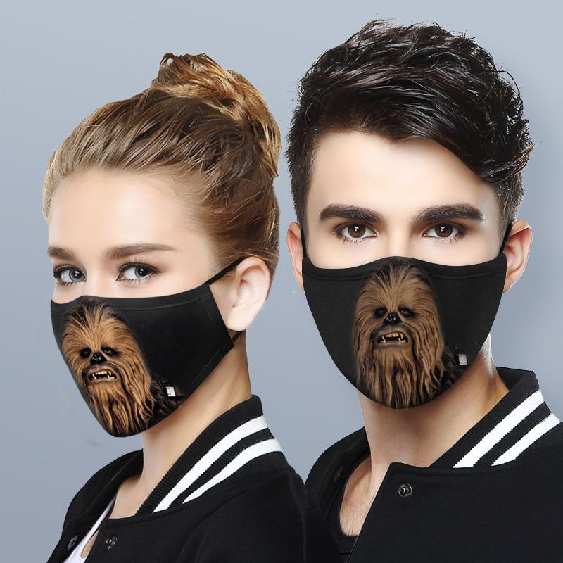 Star wars chewbacca anti-dust cotton face mask 2