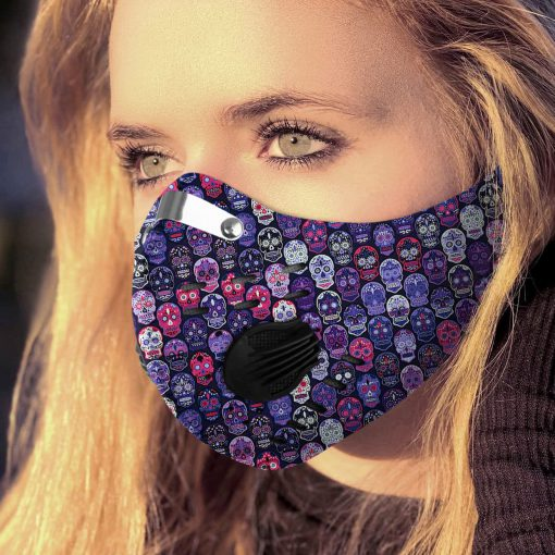 Sugar skull carbon pm 2,5 face mask 1