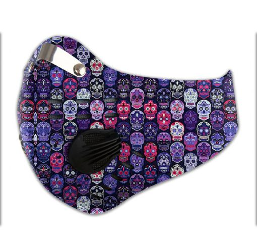 Sugar skull carbon pm 2,5 face mask 4