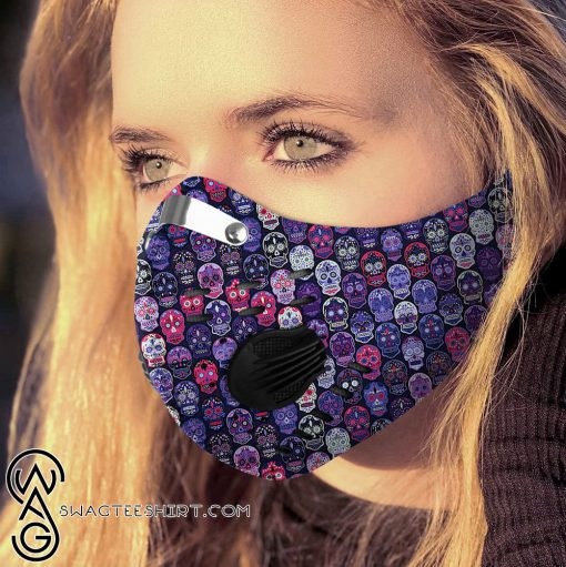 Sugar skull carbon pm 2,5 face mask