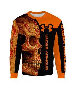 Sugar skull under armour full over print sweatshirt