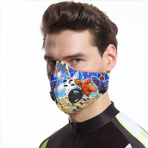 The chicken dance carbon pm 2,5 face mask 3