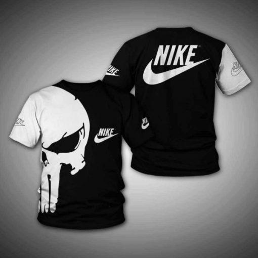 The skull nike full printing tshirt