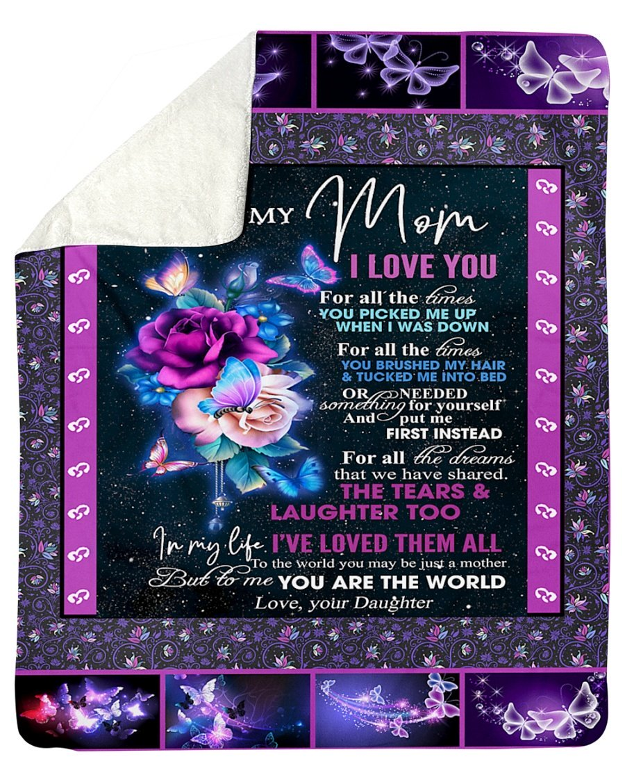 To my mom daughter night butterfly blanket 2