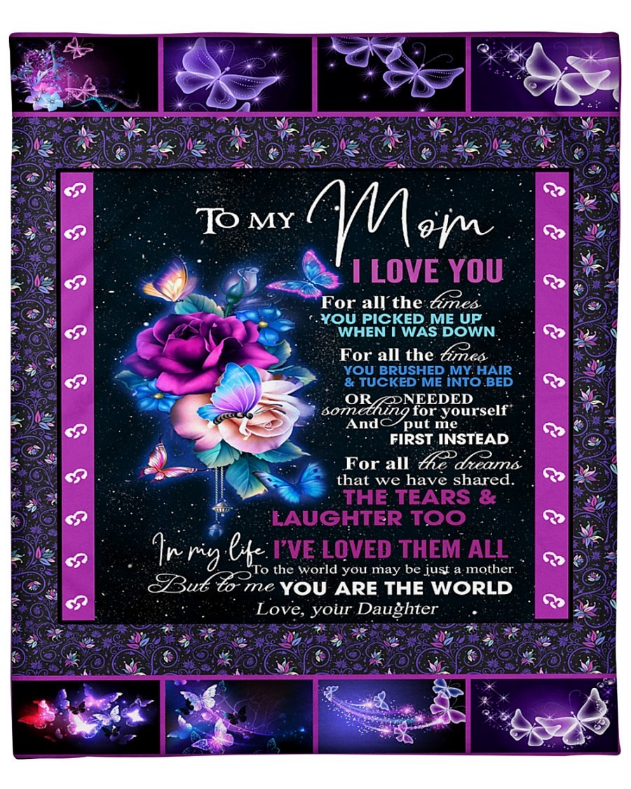 To my mom daughter night butterfly blanket 3