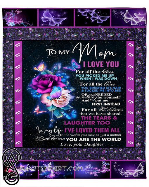 To my mom daughter night butterfly blanket