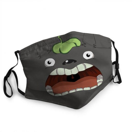 Totoro funny face anti-dust cotton face mask 2