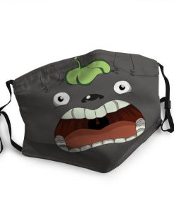 Totoro funny face anti-dust cotton face mask 4