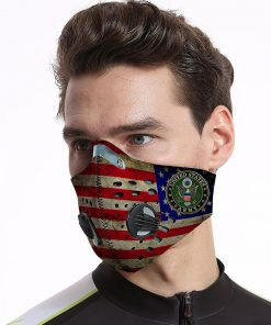 US army american flag be strong carbon pm 2,5 face mask 2