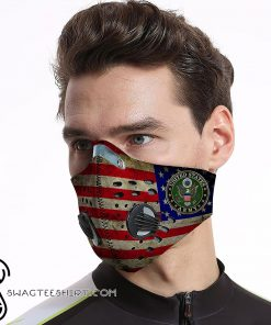 US army american flag be strong carbon pm 2,5 face mask