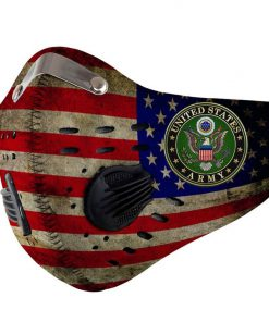 US army american flag be strong carbon pm 2,5 face mask 3