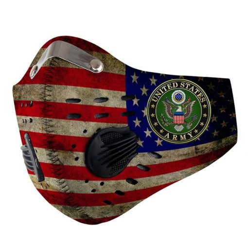 US army american flag be strong carbon pm 2,5 face mask 4