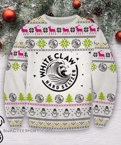 White claws hard seltzer full printing ugly christmas sweater